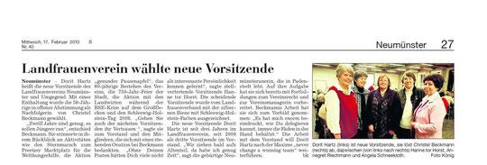 Kieler Nachrichten, 17. Februar 2010
