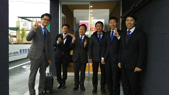 (前泊ホテルから出発の朝)