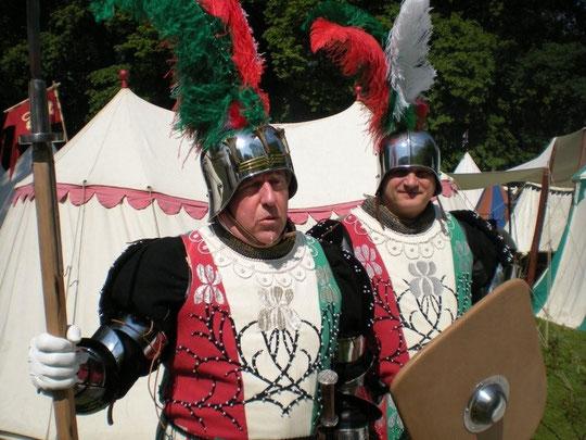 La Garde écossaise à Corroy-le-Château en 2010