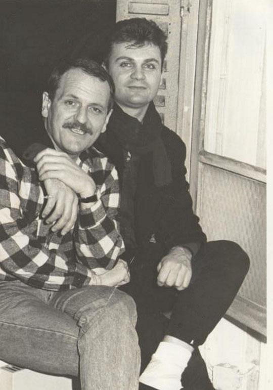Michel Coquet, Rémy de Pinho, studio de Fréquence Gaie - rue Rocroy 75010 - 1986