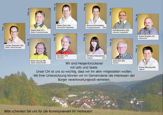 ABV Flyer - Kandidaten