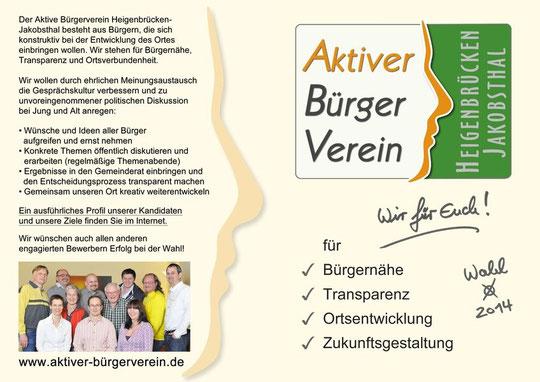 ABV Flyer - Wahlaufruf