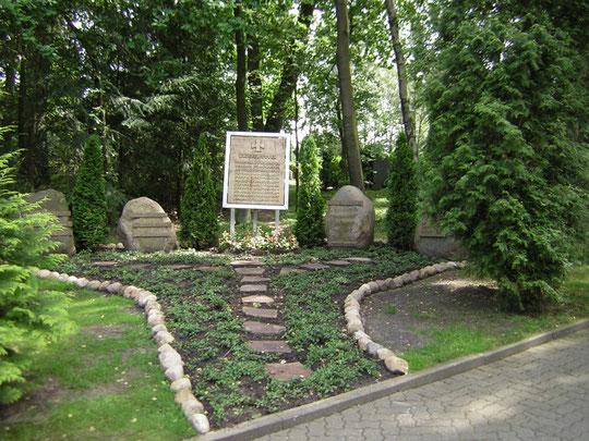 Die neue Gedenkstätte auf dem Friedhof Neu Wulmstorf