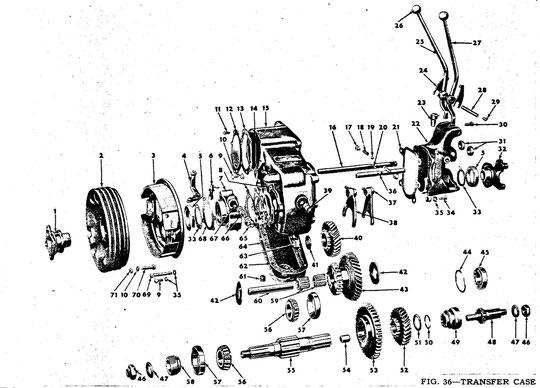 Verteilergetriebe D-18  CJ-2A - CJ5  1946 - 1971