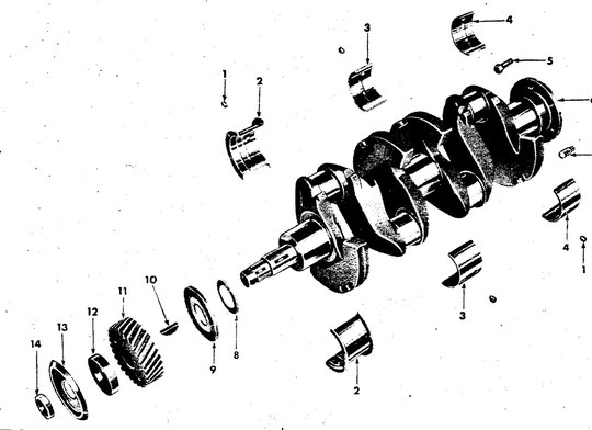 Kurbelwelle 4-134  Modell CJ-2A, CJ-3A, CJ-3B, CJ-5