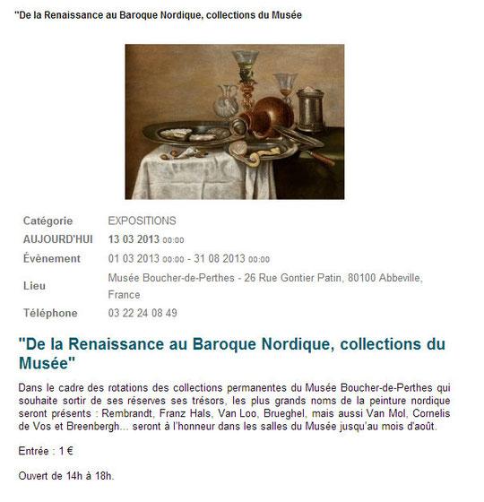 De la Renaissance au Baroque Nordique, collections du Musée