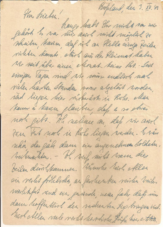 Brief vom 03.12.1943