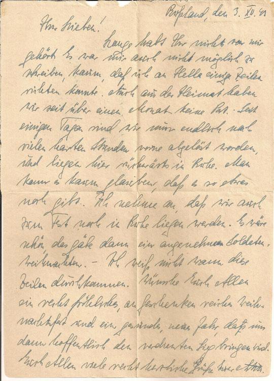 Brief vom 03.12.1943