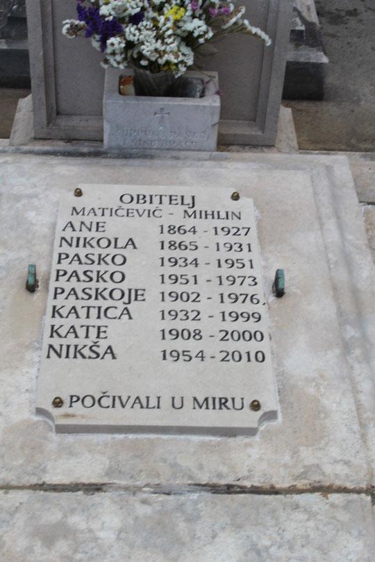 Er wurde nur 56 Jahre alt, siehe auch meine Seite -In memoriam N.Maticevic-.