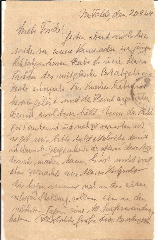 Brief vom 20.9.44