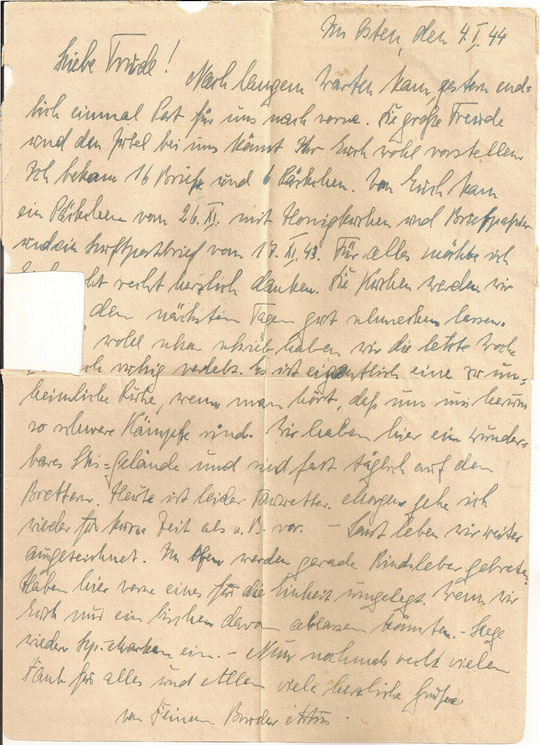 Brief vom 04.01.44