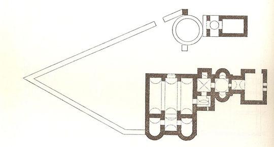 Grundriss des Schlosses.