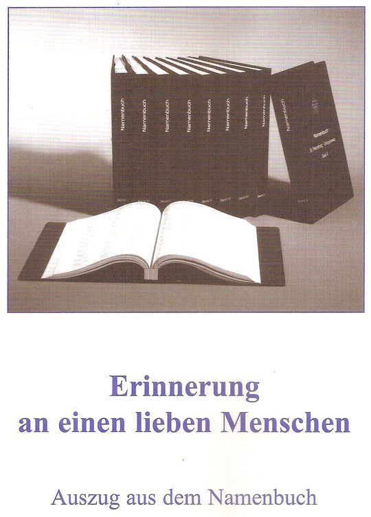 Namensbuch der Kriegsgräberfürsorge.