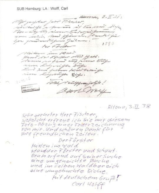 Dies dürfte eines seiner letzten schriflichen Dokumente kurz vor seinem Tod sein.