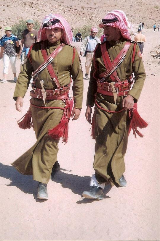 Jordanische Ehrengarde in Petra.
