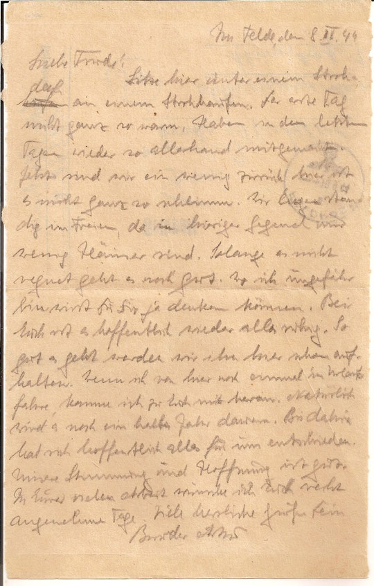 Brief vom  8.9.44
