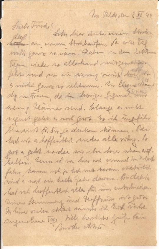 Brief vom  8.9.44