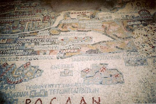 Mosaikkarte Israels.