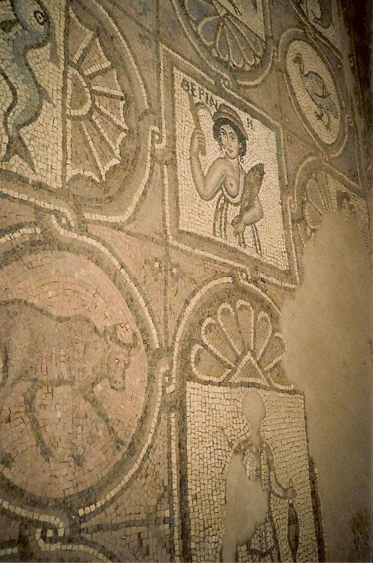 Die berühmten Mosaike von Madaba in Petra.