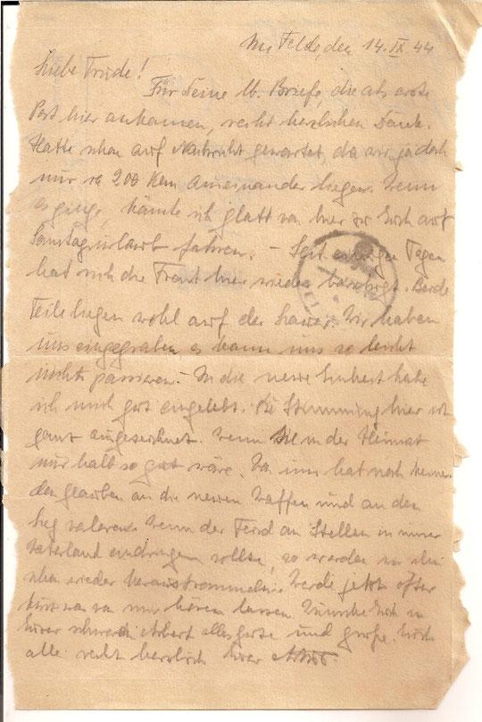 Brief vom 14.9.44
