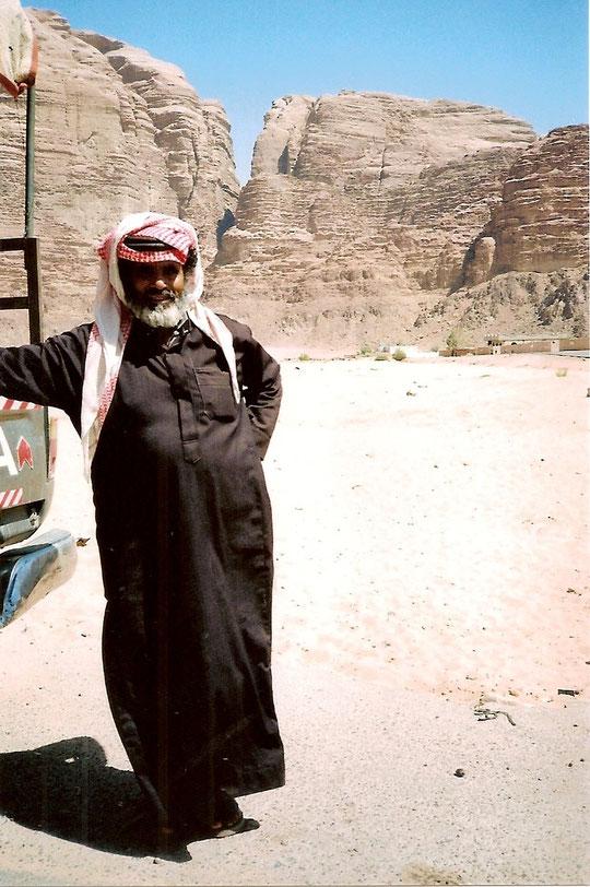 Unser Jeepfahrer durch den Wadi Rum.