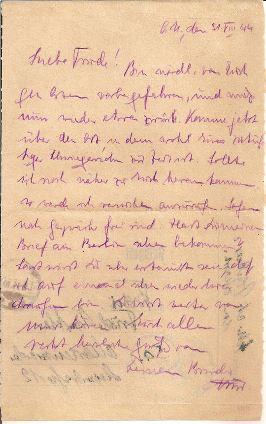 Brief vom 31.8.44