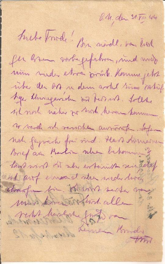 Brief vom 31.8.44