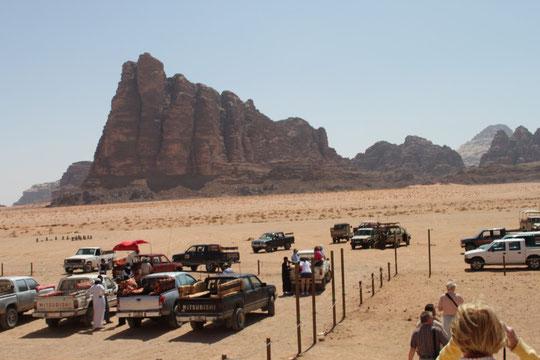Die sieben Säulen der Weisheit im Wadi Rum - Jordanien