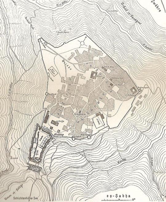Lageplan von 1901.