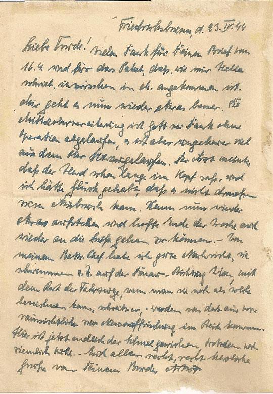 Brief vom 23.4.44