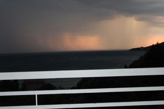 Gewitterstimmung über Mlini.