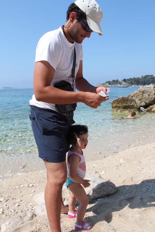 Unser Freund Bruno mit Tochter.