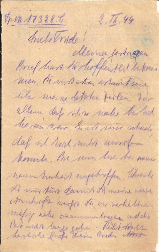Brief vom 2.09.44