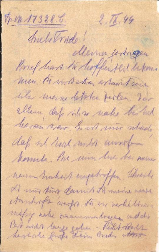 Brief vom 2.09.44