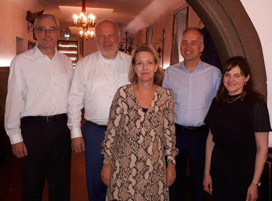 Peter Wimmer, Matthias Fleckenstein, Claudia Mehling, Botschafter Nicholas O'Brien, Emma Phelan (Oktober 2019)