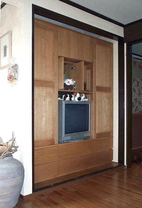 マンションに造り付けた壁面収納キャビネット(横浜市・M様邸)