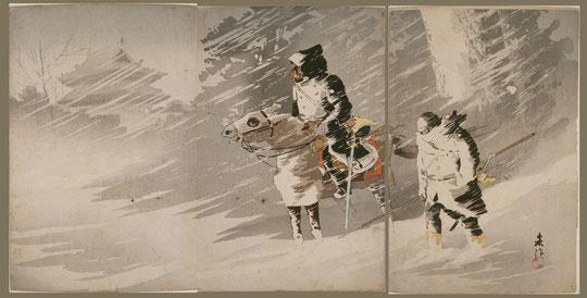120雪中斥候図