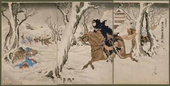 111威海衛附近登州府降雪激戦之図