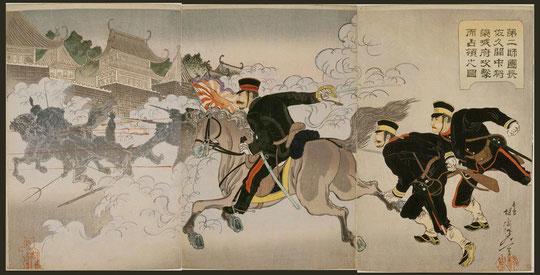 108第二師團長佐久間中将榮城府攻撃而占領之圖