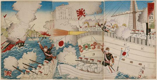 19日清海戦之図