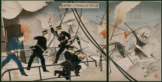 095樺山軍令部長西京丸を以て敵艦に当る