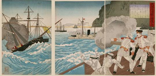 10我艦隊清艦を捕獲する図
