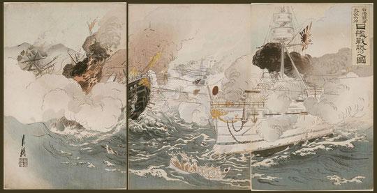 093日清戦争太孤山沖日艦戦勝之図
