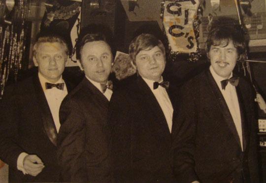 v.l.n.r.: Benny Thomson, Jaro Fux, Jupp Seipel, Oliver Dillen