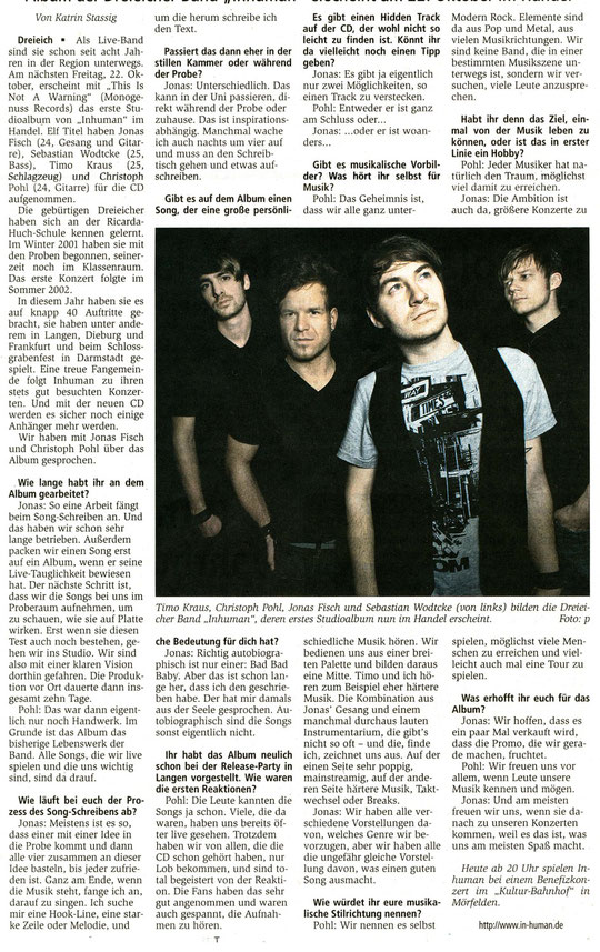 Offenbach Post, 16.10.2010
