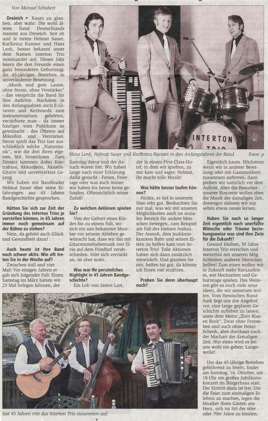 Offenbach Post, 9. Oktober 2010