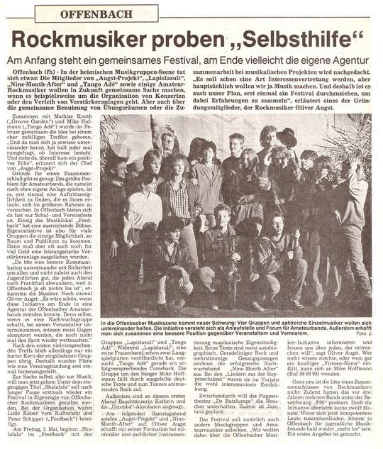 1986: Ein Ehrgeiziges Projekt, aus dem leider nie etwas geworden ist.
