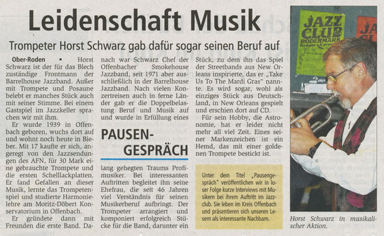 Offenbach Post, 6. November 2010