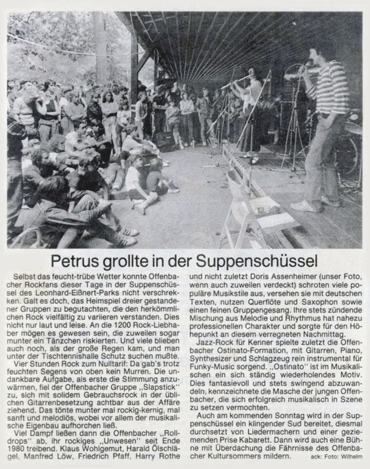 Offenbach Post, 11. August 1982