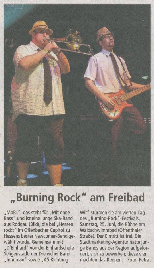 Offenbach Post, 13. Mai 2011